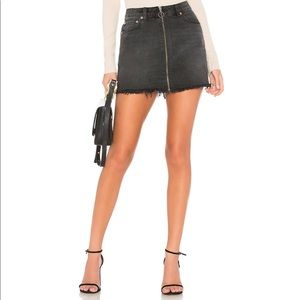 Free people zip it up mini skirt Sz 25